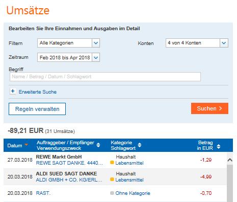 Finanzmanager Ihr Digitales Haushaltsbuch Frankfurter Volksbank